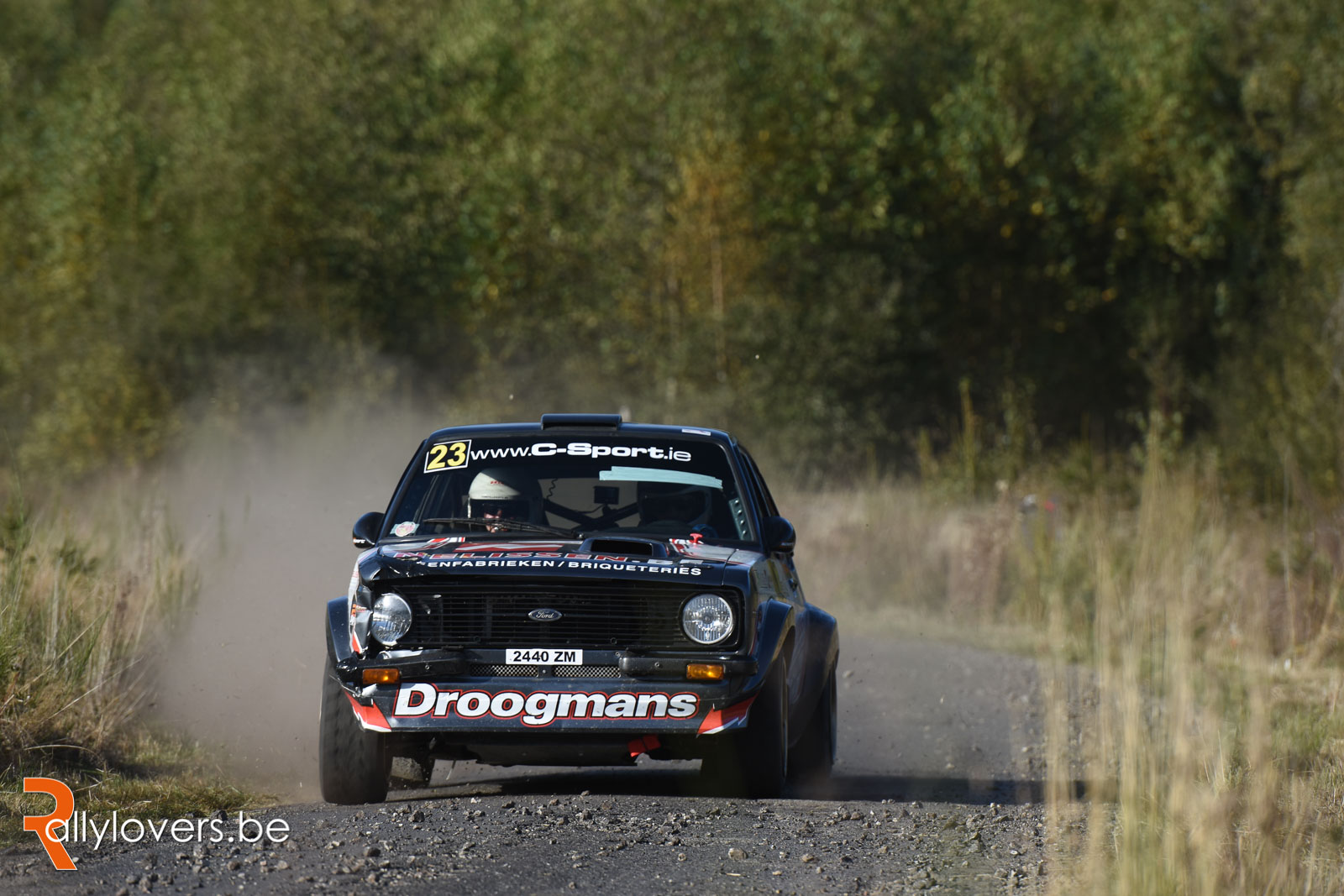 Robert Droogmans in de Rallye de Wallonie met Escort Millington