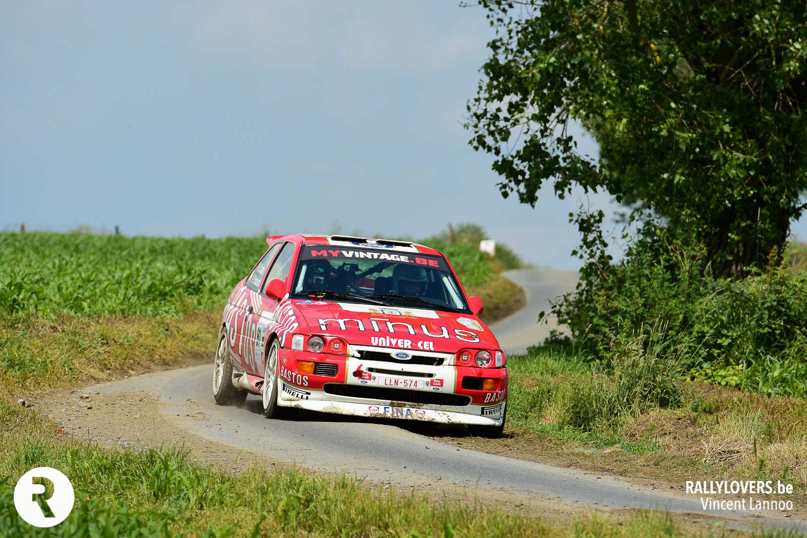 Bruno Thiry met Ford Escort Cosworth Gr.A in Condroz Rally