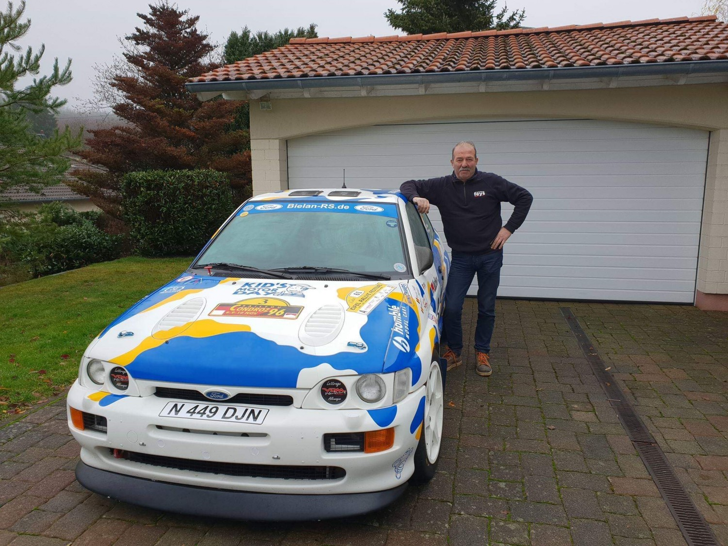 2019 - Paul Lietaer met een Ford Escort Cosworth