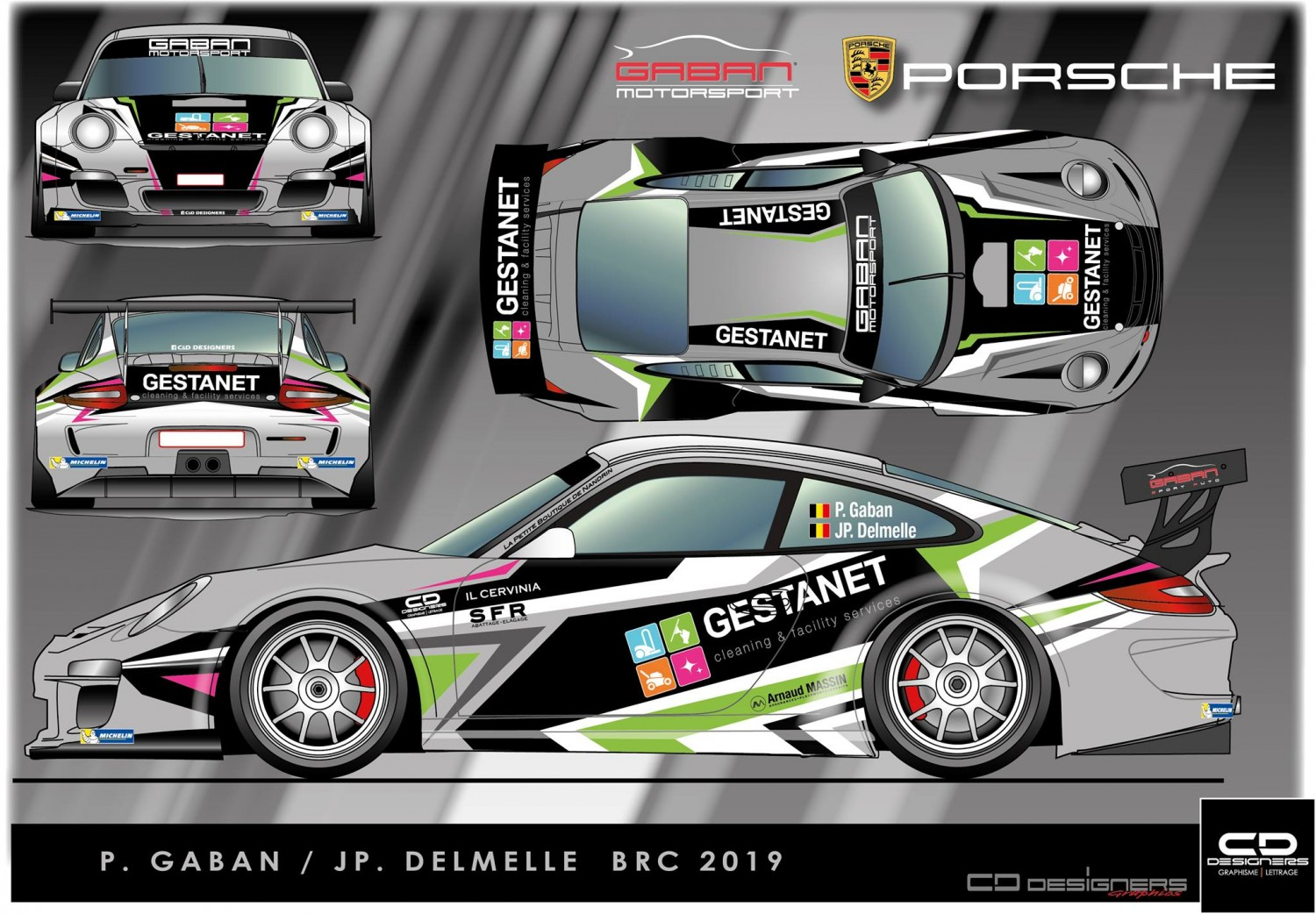2019 come back pascal gaban in porsche gt3 rallylovers. Black Bedroom Furniture Sets. Home Design Ideas