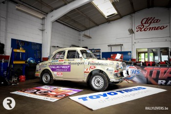 Team van Oxford Universities Motorsport Foundation voor de 8ste keer aan start van Ypres Rally