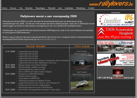 Nieuwe lay-out RALLYLOVERS