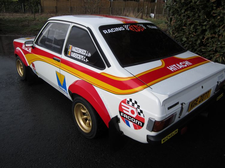 Johnny Vanzeebroeck in zijn 6de Boucles de Spa met Ford Escort MK2 replica Hubert Saelens